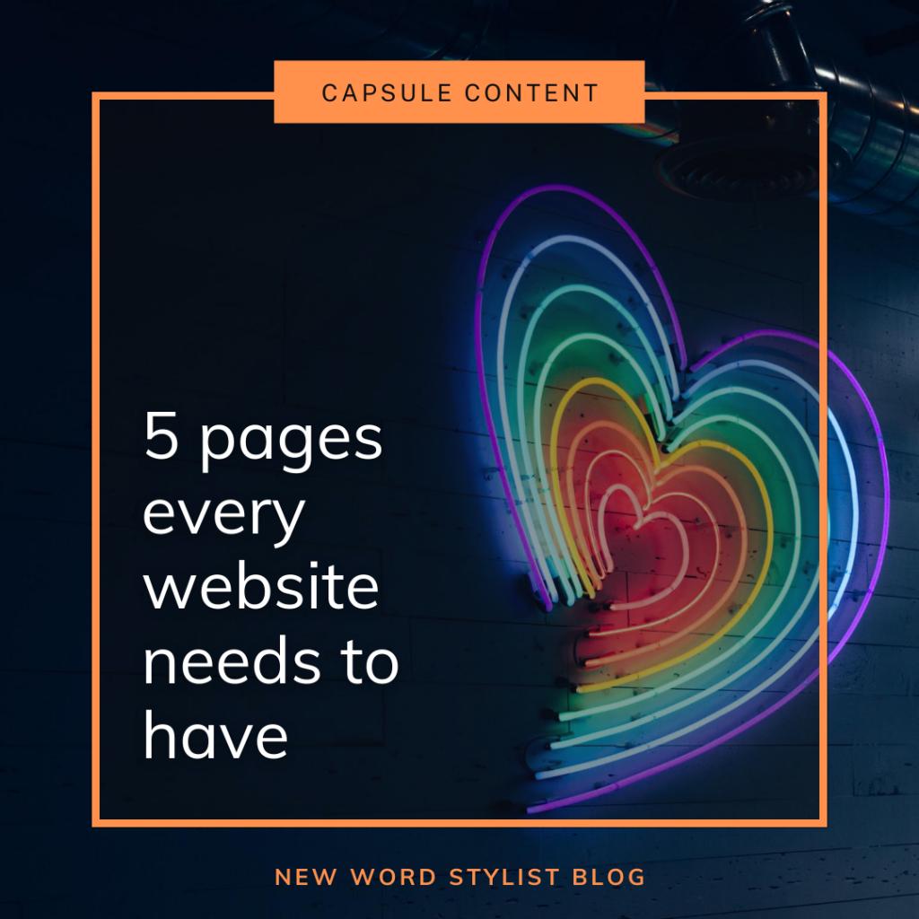 Writing capsule website content